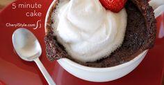Quick and easy 5 minute chocolate mug cake recipe