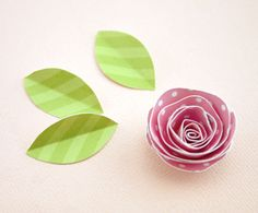 How to make paper flowers and leaves