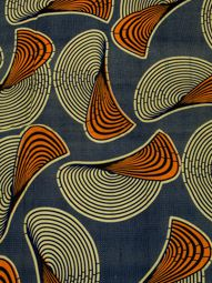 Authentic African Fabric Real Wax Indigo Swirl Pattern For Party Dress rw493212