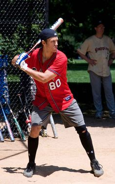 Aaron tveit is really good at playing baseball on buzzfeed