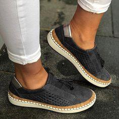 Women loafers leather casual shoes women slipon sneaker comfortable loafers women flats tenis feminino zapatos de mujer Source by Fashionsleague women shoes Casual Heels, Casual Sneakers, Ladies Sneakers, Women's Casual, Green Sneakers, Women's Sneakers, Casual Boots, Sneaker Women, Loafers Online
