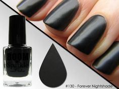 Matte Black Nail Polish - Halloween Makeup - Forever Nightshade (130) #boomsparkle #matte #black #nail polish #nailpolish #Halloween #makeup