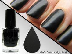 Matte Black Nail Polish - Halloween Makeup - Forever Nightshade (130) #boomsparkle #matte #black #nail polish #nailpolish #Halloween #makeup