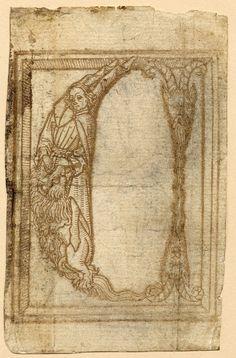 Grotesque alphabet. Unknown author, 1464.