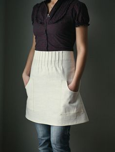 we for sure want 1/2 aprons for our shop uniform...love this linen one!