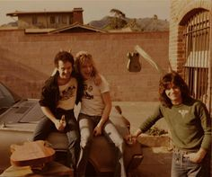 Fair Warning - Eddie Van Halen with Don Cugini (Image Guitars), his friend, Ed - Circa 1981