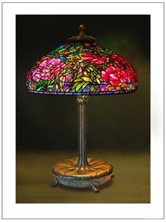 Tiffany Studios Table Lamp designed by Clara Driscoll Tiffany Stained Glass, Stained Glass Lamps, Tiffany Glass, Leaded Glass, Stained Glass Windows, Mosaic Glass, Louis Comfort Tiffany, Tiffany Kunst, Tiffany Art