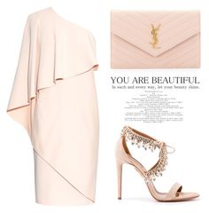 """sweet"" by simonabartoletti on Polyvore featuring Aquazzura, Yves Saint Laurent and Givenchy"