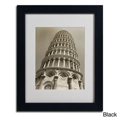 Chris Bliss 'Pisa Tower II' Framed Matted Art