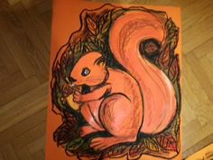 Squirell drawing