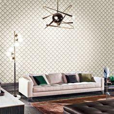 ταπετσαρια τοιχου ρομβοι 88201 - Ταπετσαρίες τοίχου