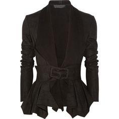 Donna Karan Draped Coated-Jersey Jacket ❤