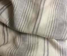 New to CustomLinensHandmade on Etsy: Grey white striped duvet cover set grey white stripe pillow cover ticking stripe duvet ticking stripe bedding in Twin Queen and King (187.00 USD)