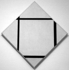 Piet Mondrian | Composition No 1: Lozenge With Four Lines | 1930