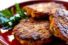 Quick and easy salmon patties recipe with cooked salmon, bread, green onion, dill, bell pepper, egg, and paprika.