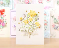 Make beautifully floral card designs with the Create and Craft Pastel Floral Decoupage Kit! / cardmaking / papercraft / scrapbooking / greeting card