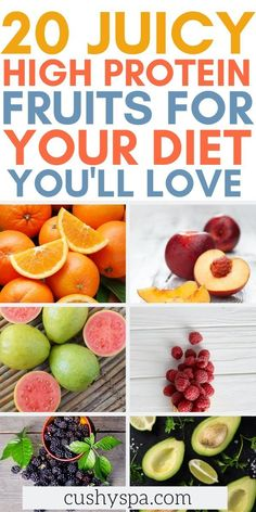 Use these wonderful fruits to make high protein meals: salads or healthy smoothies that are delicious. You can incorporate these into high protein vegan recipes! High Protein Fruit, High Protein Vegan Recipes, Protein Foods, Baby Food Recipes, Healthy Dinner Recipes, Healthy Snacks, Healthy Steak, High Protien, Dairy Recipes