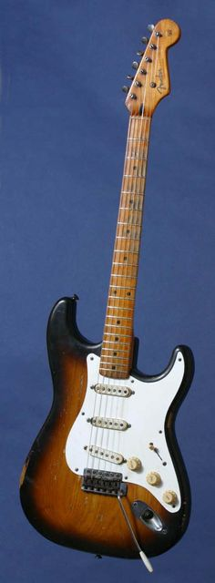 "1954 Fender Stratocaster---- ""My guitar of choice, love Fender!!! Classic sound, smooth in tone, and has all the guts you need!!!""--- Sean"
