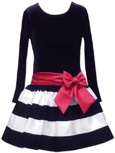 Ooh Lala Paris Chic Holiday Dress 2011 2T to 6X Matching Headband & Leggings Available! - Girls Christmas Dresses - Cassie's Closet