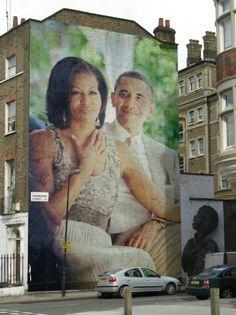 President Barak Obama With 1st Lady Michelle Obama....  #Photofunia