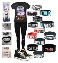 """modern fashion (emo)"" by new-broken-scene-637 ❤ liked on Polyvore featuring Converse, Barbed and modern"
