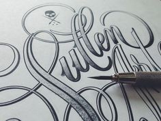 Sullen type by Ryan Hamrick Type & Lettering Inspiration | From up North