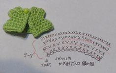 オビツ11用かぎ針ボレロ・ヨーク編み図