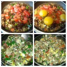 Machacado with egg a la Mexicana for Father s Day for breakfast! Healthy Low Calorie Breakfast, Mexican Food Recipes, Cobb Salad, Egg, Father, Eggs, Pai, Mexican Recipes, Egg As Food
