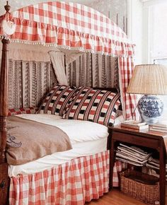 Only Yesterday, Just Love, Valance Curtains, Gingham, Blinds, Comforters, Blanket, Bedroom, Interior