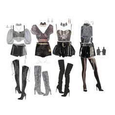 Kpop Fashion Outfits, Stage Outfits, Edgy Outfits, Retro Outfits, Dance Outfits, Girl Outfits, Cute Outfits, Mode Kpop, Mode Inspiration