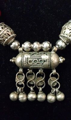 Detail of a necklace made from old Yemen silver!