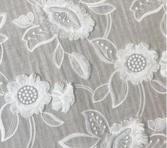 Embroidered Cotton Lace Fabric With 3D Flower In Off White By The Yard Wide : 135cm. This listing is sold by 1 yard.We will ship in one piece continue without cutting if you order more than 1 quantity.Perfect for curtains, kids cloth, boho dress, baby dress, table runner, background and any sewing project...you will gain happiness from diy making About the shipping,If you select shipping by general shipping, usually needs about 7-20 business days, some remote country need more time.If need… Custom Wedding Dress, Wedding Sash, Diy Dress, Boho Dress, Embroidered Lace Fabric, Extra Fabric, African Lace, Beaded Trim, Tulle Fabric