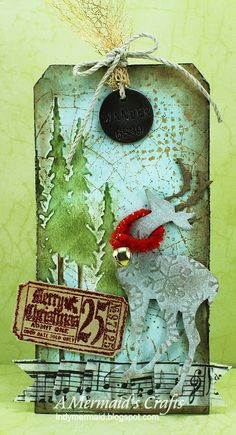A Mermaids Crafts: Merry Christmas Tag http://indymermaid.blogspot.com/2012/12/merry-christmas-tag.html