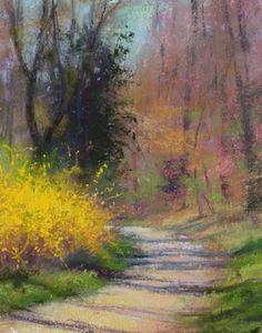 Trailhead en Plein Air by Lisa Mitchell ~ 12 x 9