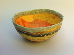 Mary Hanson Bowl with stitching