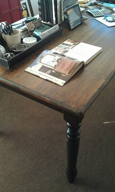 Thrift A Dining Room Table Refinish Use As Desk