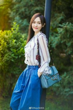 Tiffany Tang, Luo Jin, Park Min Young, Chinese Actress, Chloe Bag, Kpop Girls, High Waisted Skirt, Prom Dresses, Actresses