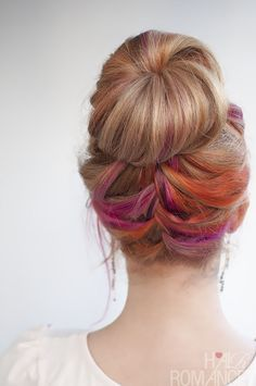 Hair Romance - multi colour french braid hair...if only I had the boldness. Gorgeous!