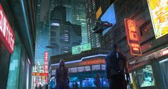 This is a recent work I did for an indie cyberpunk videogame  © Rogue Moon Studio