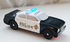 pinewood derby police car