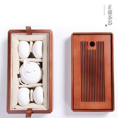 Zhengding wood tea tray tea sea kung fu tea portable outdoor ceramics Travel Kit Combo