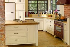 Kitchen. White, wood, country but modern. warm.