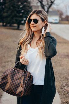 Warm Spring, Timberlands Women, Tassel Earrings, Louis Vuitton Speedy Bag, Purses, Guys, My Style, Blog, Outfits