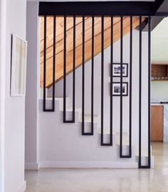 - Stunning Non-Traditional Staircase ! - Stunning Non-Traditional Staircase ! - Stunning Non-Traditional Staircase ! - Stunning Non-Traditional Staircase Staircase Railing Design, Home Stairs Design, Stair Handrail, Interior Stairs, Modern House Design, Door Design, Staircase Ideas, Railing Ideas, Staircase Design Modern