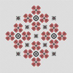 Geometric Flowers Cross Stitch Pattern Instant Download Geometric Flower, Creative Embroidery, Point, Cross Stitch Patterns, Cloths, Unique Jewelry, Handmade Gifts, Table, Flowers
