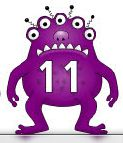 Free for kids: Numbers 0-50 on alien monsters