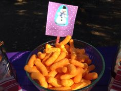 """Doc Party! Food! """"Chilly's Noses"""".  Cheetos"""