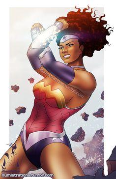 Ebony wonder woman