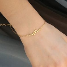 Gold Arabic Name Bracelet_Arabic by tiredmasterjewelery on Etsy