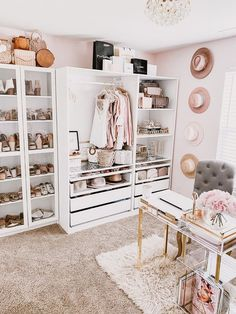 Home Office Closet, Glam Closet, Home Office Decor, Home Decor, White Closet, Wardrobe Room, Closet Bedroom, Bedroom Decor, Spare Room Closet